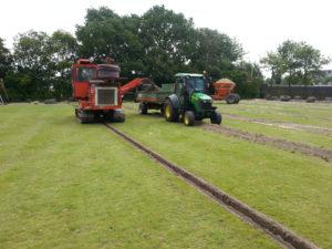 Drainage met grondafvoersysteem