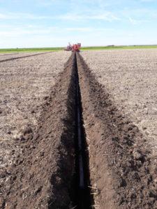 Kettinggraver drainage